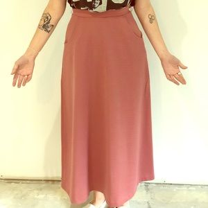 Vintage Maxi Skirt With Pockets